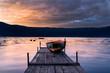 canvas print picture - Alba al lago di Castelgandolfo