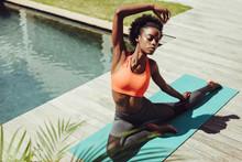 Healthy Woman Doing Yoga Stret...