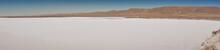 Panoramic View Of The Salars And Suerfaces Of The Hidden Lagoons Of Baltinache. San Pedro De Atacama, Antofagasta - Chile. Desert. Andes Range & Route B241.