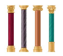 Pillars Vector Illustration Ar...