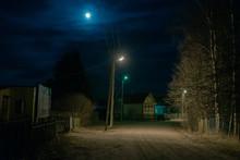 Moonlit Night In The Village