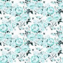 Seamless Pattern Of Wild Rose...