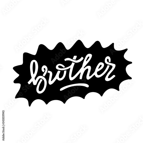 Tableau sur Toile Big brother hand written lettering in doodle style