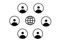 Collegamento Social Internet W...