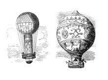 The First Untethered Balloon Flight By Pilatre De Rozier And The Marquis D'Arlandes From De Bois De Boulogne Paris In 1783