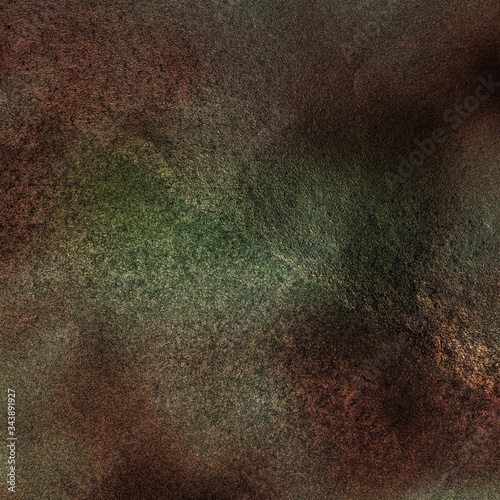 Brown and Green Colored Grunge Textured Effect Background