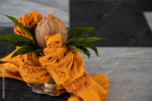 Fotomural coconut for Indian Hindu Traditional Pooja