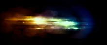 Beautiful Light Flares. Glowin...