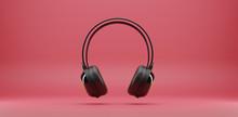 Black Music Headphones Isolate...