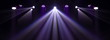 Leinwandbild Motiv Theater lights spotlights over the stage, texture background for design.