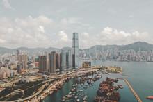 Aerial View Of Hong Kong's Sky...