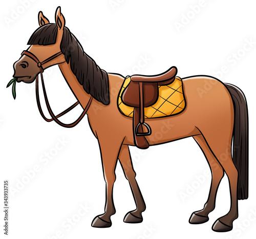 Niedliches Pferd - Illustration