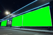 canvas print picture - Blank citylight for advertising on the building at city, copyspace for your text, image, design. Media marketing, ads, promo announcement, commercial propose or message. Banner, template chromakey.