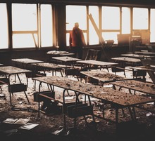 View Of Abandoned Classroom