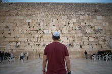 A Man In A Kippah In Front Of ...