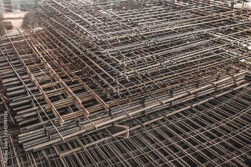 Reinforcement of concrete structures Canvas Print
