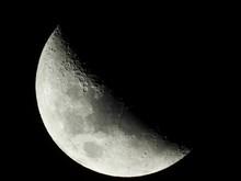 Shoot Of Half Moon At Midnight