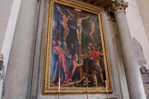 Kościół Santa Croce - Florencja, Toskania, Wlochy Fototapeta