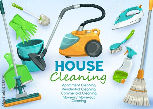 House cleaning service for apartments, residential homes and commercial buildings Fototapeta