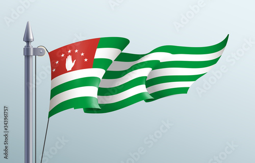Abkhazia flag state symbol isolated on background national banner Wallpaper Mural