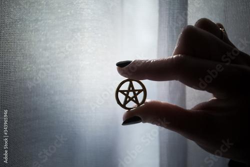 Pentagram, five-pointed star, talisman, amulet Canvas Print