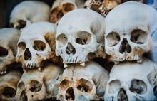 Skulls Inside The Choeung Ek M...