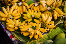 Bananas For Sale At A Market, ...