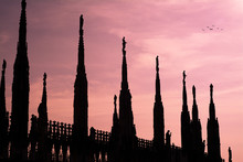 Sunset In The Duomo Of Milano