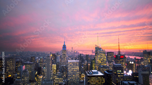 New York City Sunset RoofTop