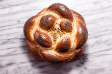 Braided Round Challah Bread Lo...