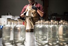 A Distiller Cleaning Of Fresh ...