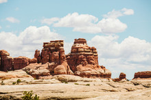 Layered Red Sandstone Towers O...