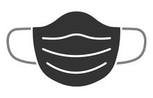 Respiratory Protection Face Mask Grey Icon