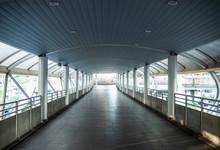 Empty Pedestrian Bridge At Cho...