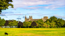 View Of Peterborough Cathedral In England