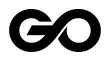 Go Vector Lettering On White Background