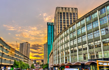 View Of Birmingham At Sunset - West Midlands, England