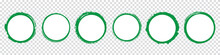 Set Of Green Round Banners - B...