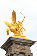 Golden Statue, High Above The ...