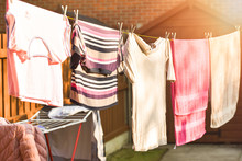 Washing Line With Drying Cloth...