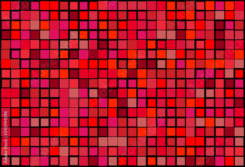 Photo Artistic modern vector background from shades of red random mosaic pattern with