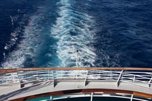 High Angle View Of Ship Sailin...