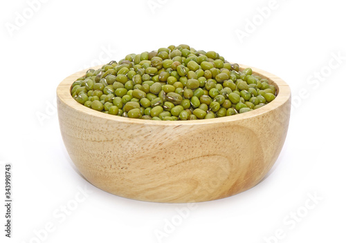 Mung beans isolated on white Canvas Print