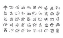 Insurance - Set Of Line Vector Icons.