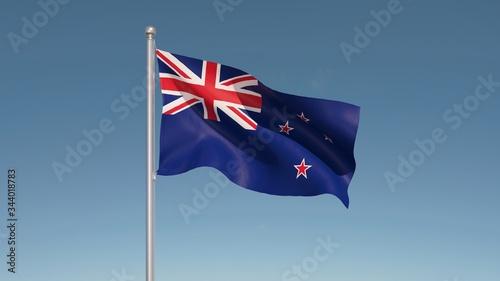 Obraz New Zealand Flag - fototapety do salonu