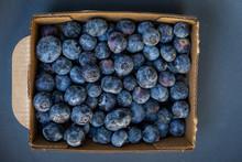 Box Of Fresh Blueberries