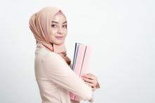 Asian Muslim Business Woman Ho...