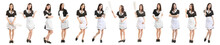 Set Of Beautiful Chambermaid On White Background