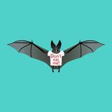 Bat In A Shirt With The Inscri...