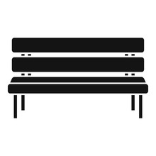Park Bench Icon. Simple Illust...